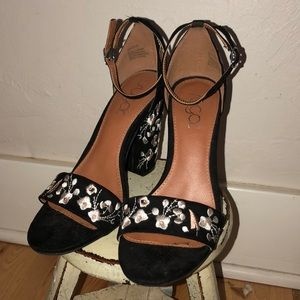 chunky cherry blossom heels
